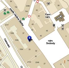 Umístění ateliéru na mapě